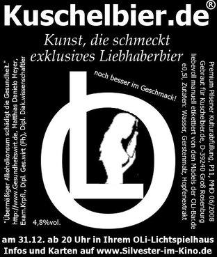 Kuschelbier.de Etikett